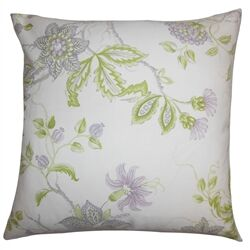 Ululani Floral Cotton Throw Pillow Color: Heather, Size: 22