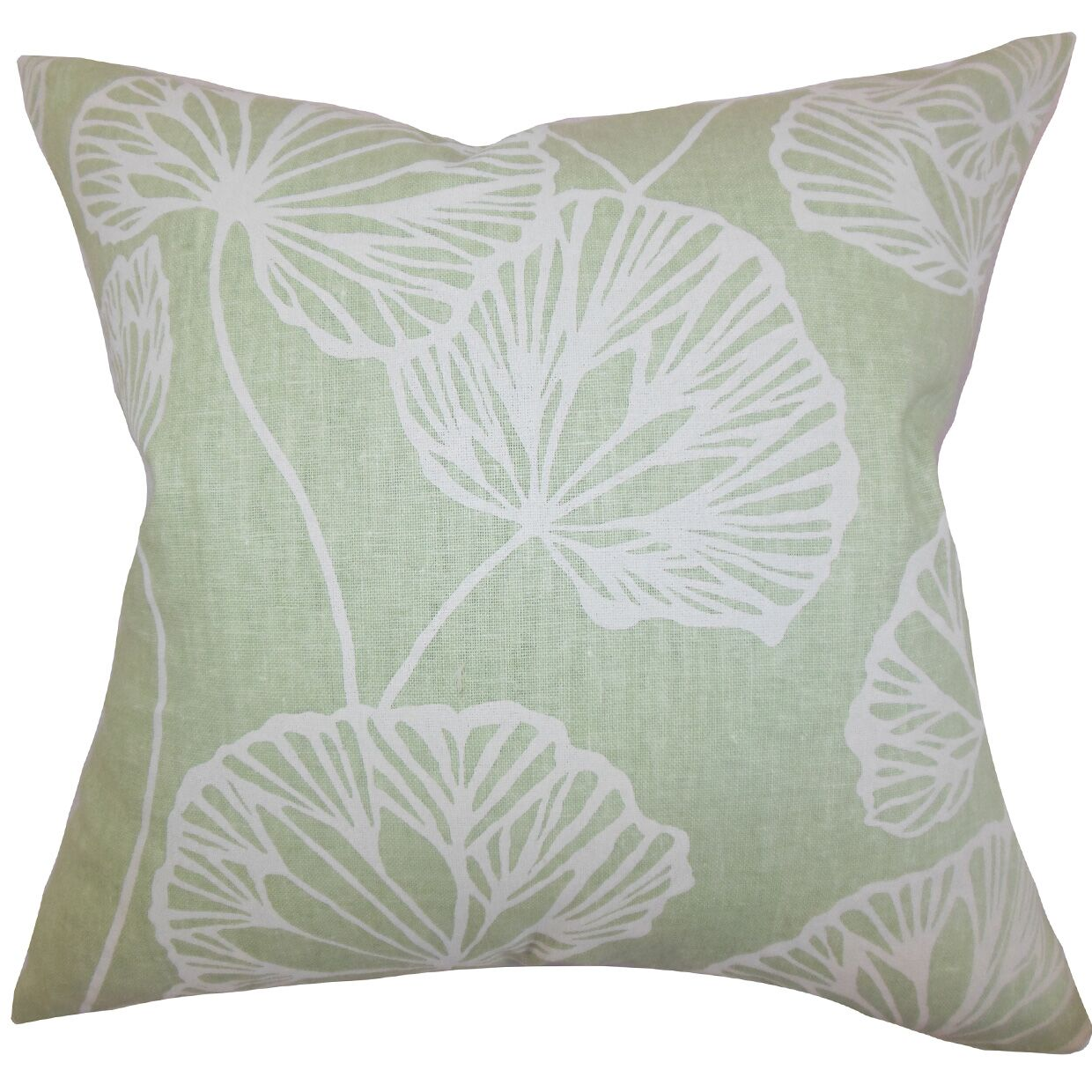 Fia Floral Throw Pillow Color: Green, Size: 22