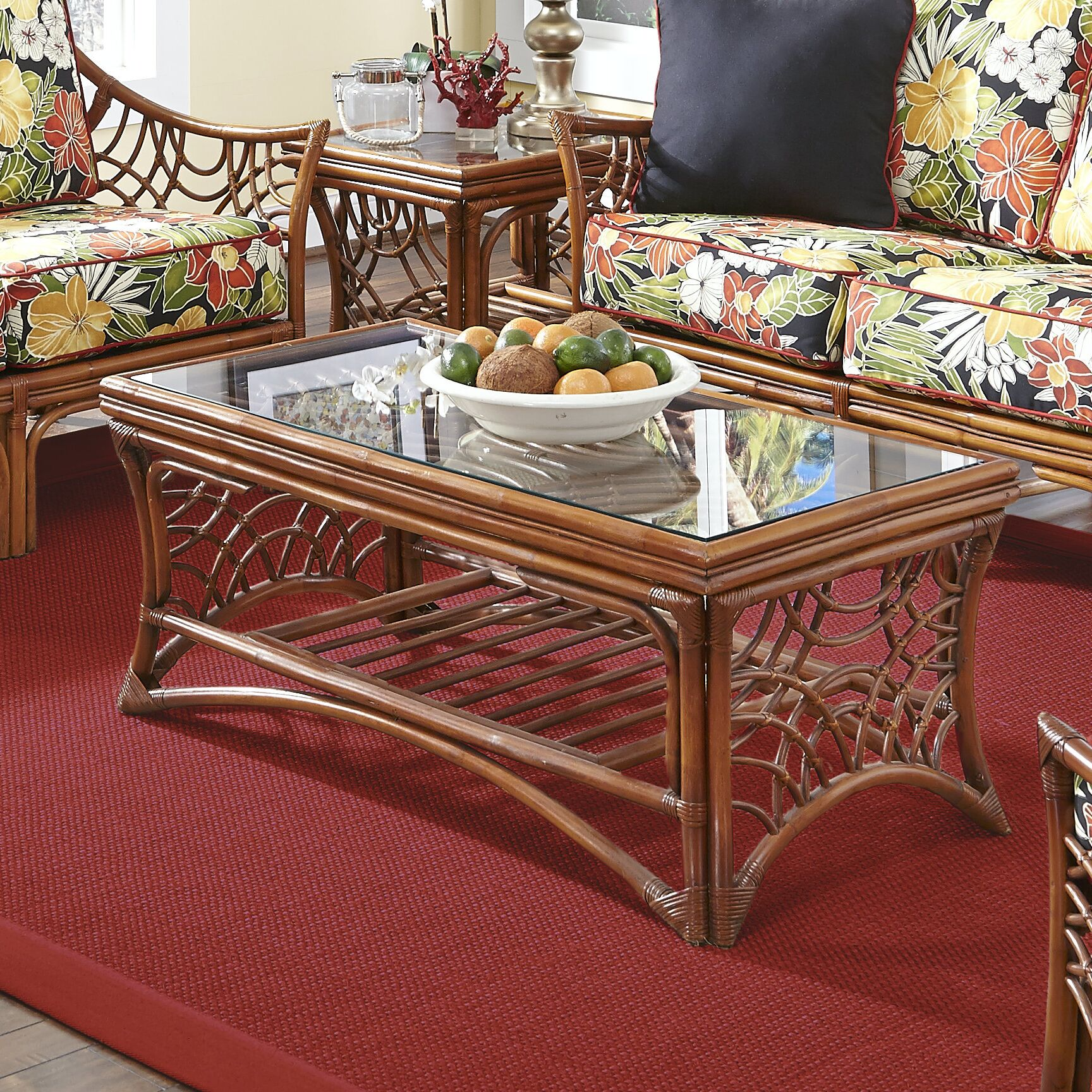 Rainey Coffee Table Base Color: Brown
