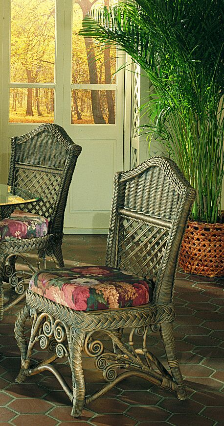 Gazebo Side Chair Upholstery Color: Lismore Gardens, Frame Color: White