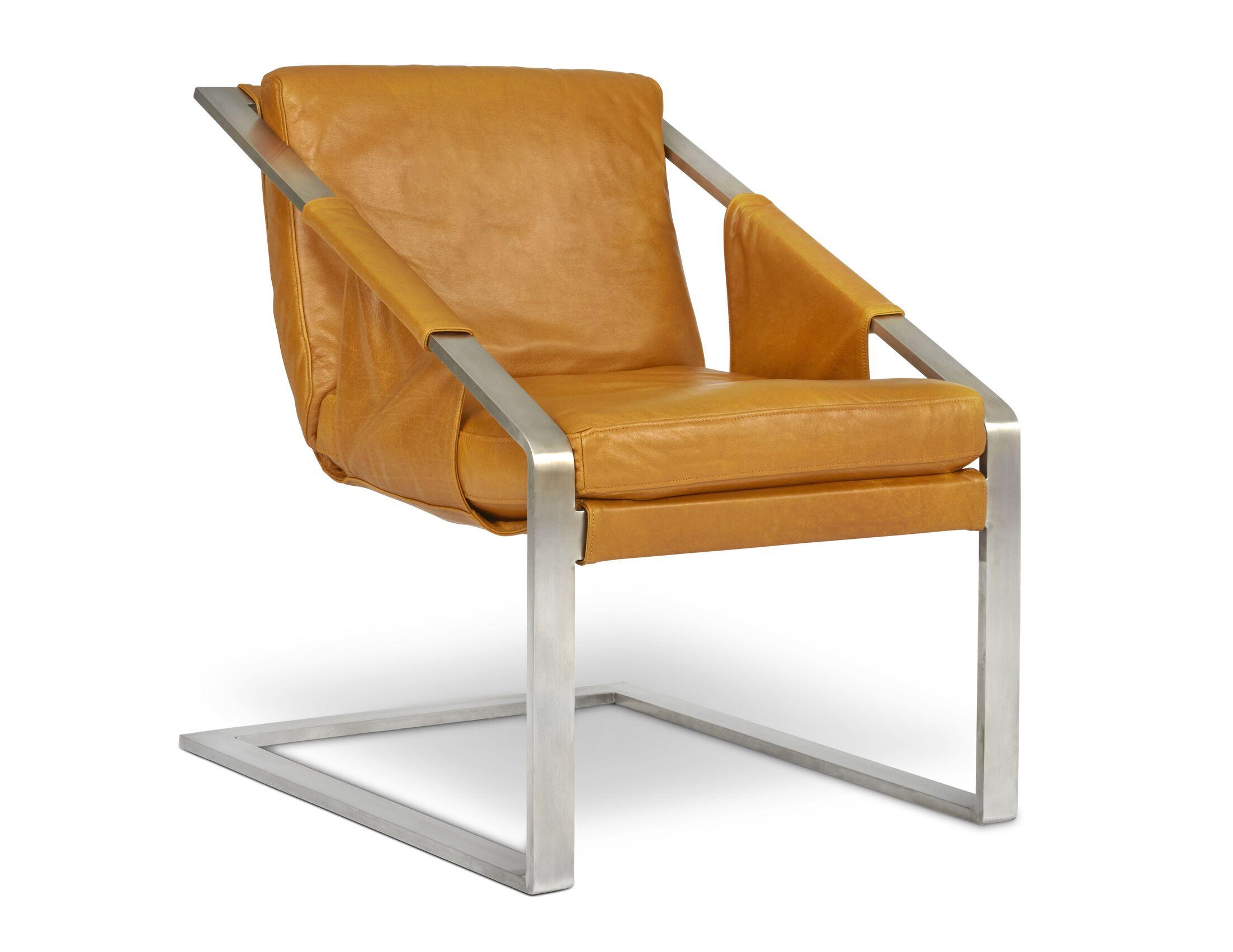 Rehaan Armchair Finish: Steel, Upholstery: Maxima Metal