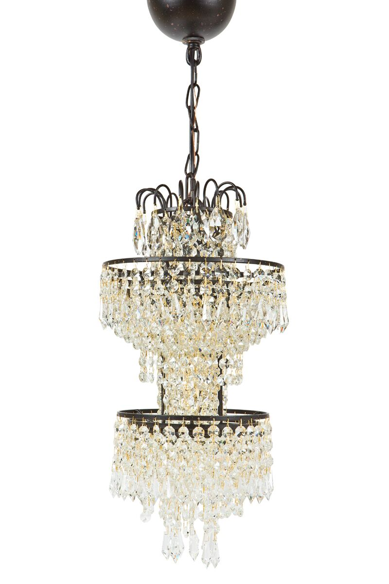 Tier Antigue 1-Light Crystal Pendant