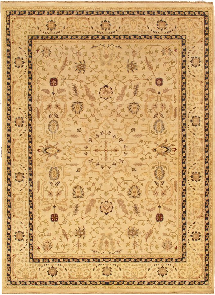 Ziegler Sul Traditional Hand Knotted Lamb's Wool Camel Area Rug Rug Size: 9'2