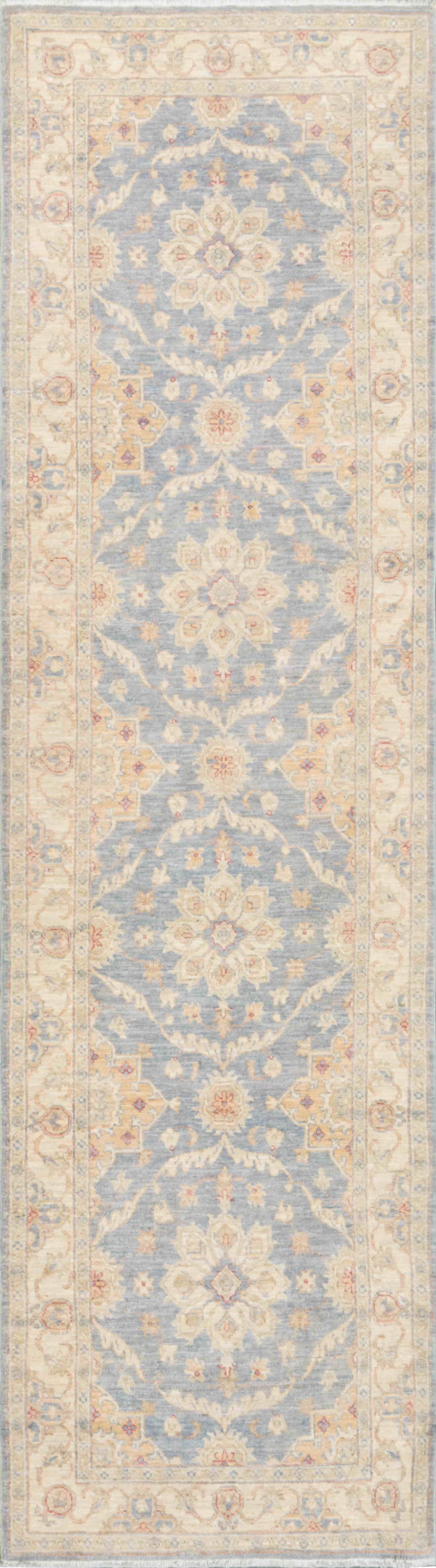 Tabriz Hand-Knotted Light Blue Area Rug