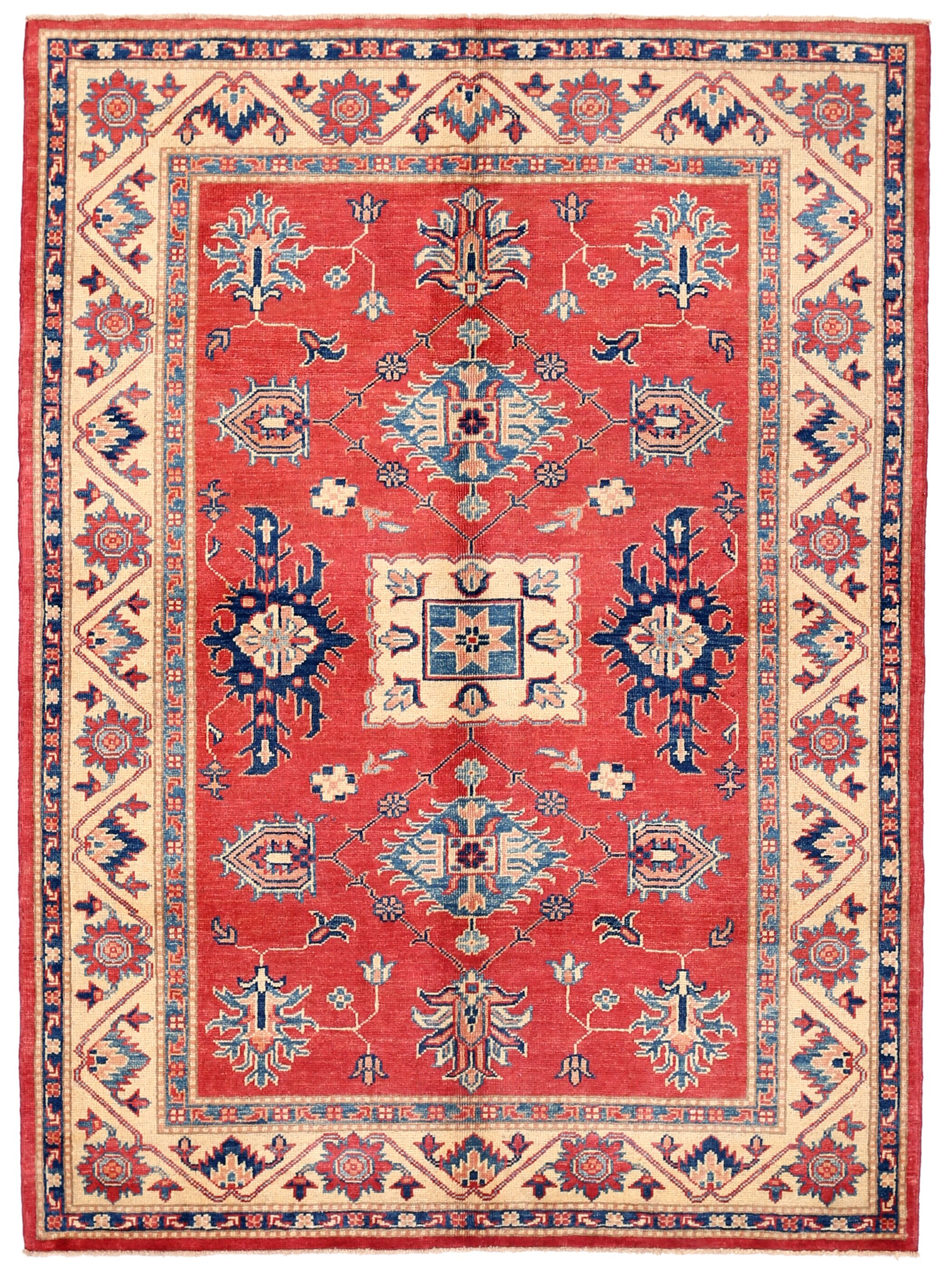 One-of-a-Kind Kazak Hand-Knotted Wool Rust Area Rug Rug Size: Rectangle 4'11