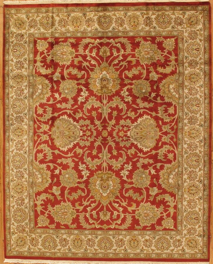 Tabriz Hand-Knotted Rust Area Rug Rug Size: Rectangle 8' x 10'