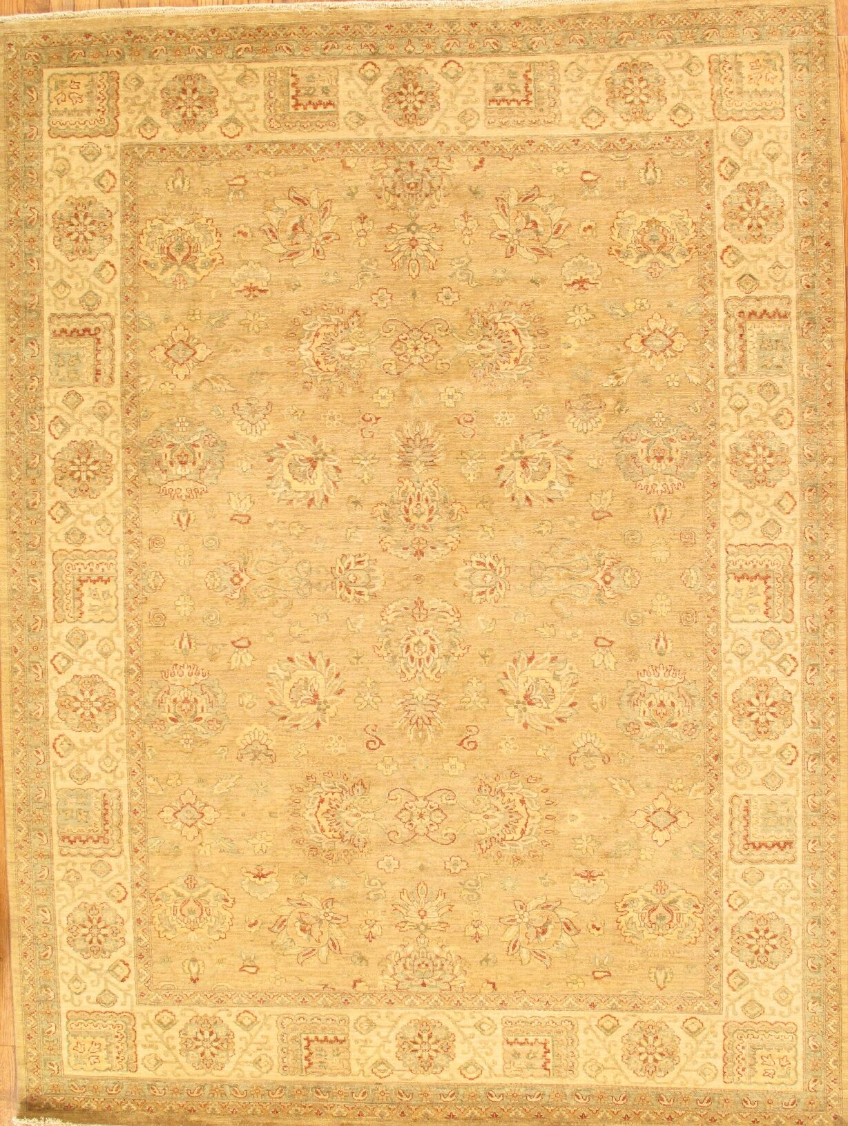 Sultanabad Hand-Knotted Camel/Ivory Area Rug