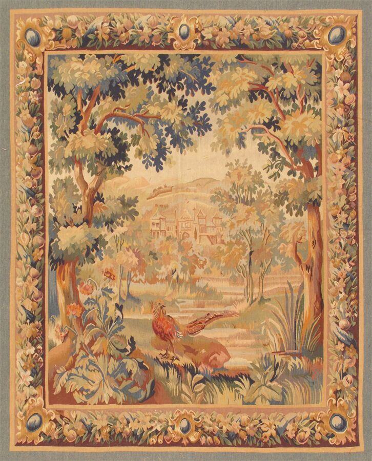 Tapestry Hand-Knotted Brown Area Rug
