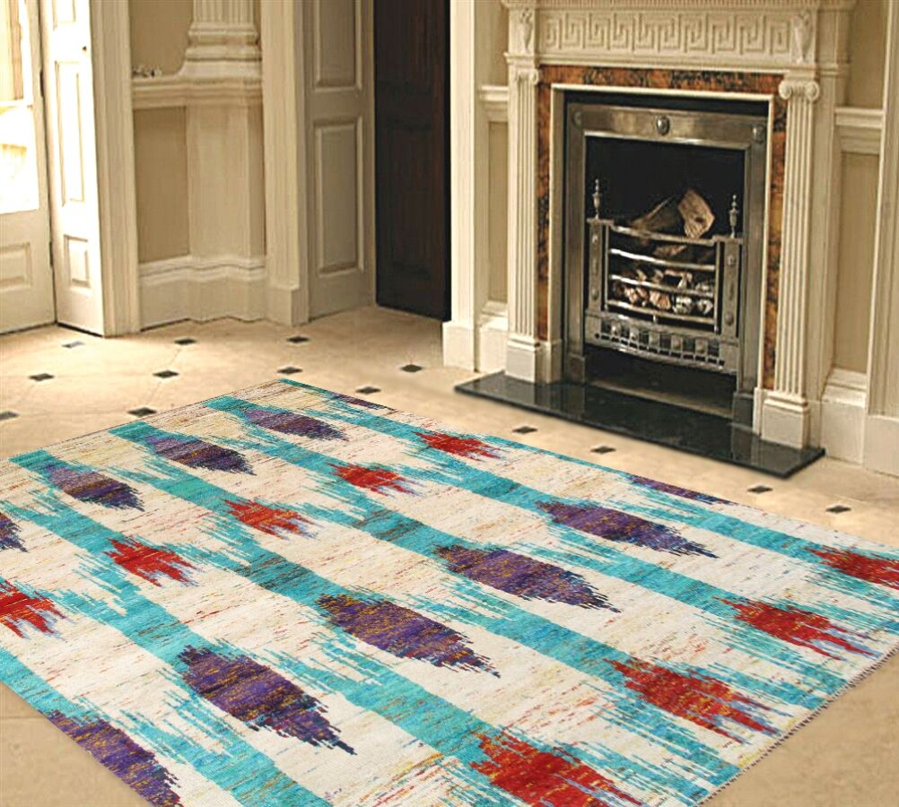 Venice Hand Knotted Silk Transitional Area Rug Rug Size: Rectangle 8' x 10'