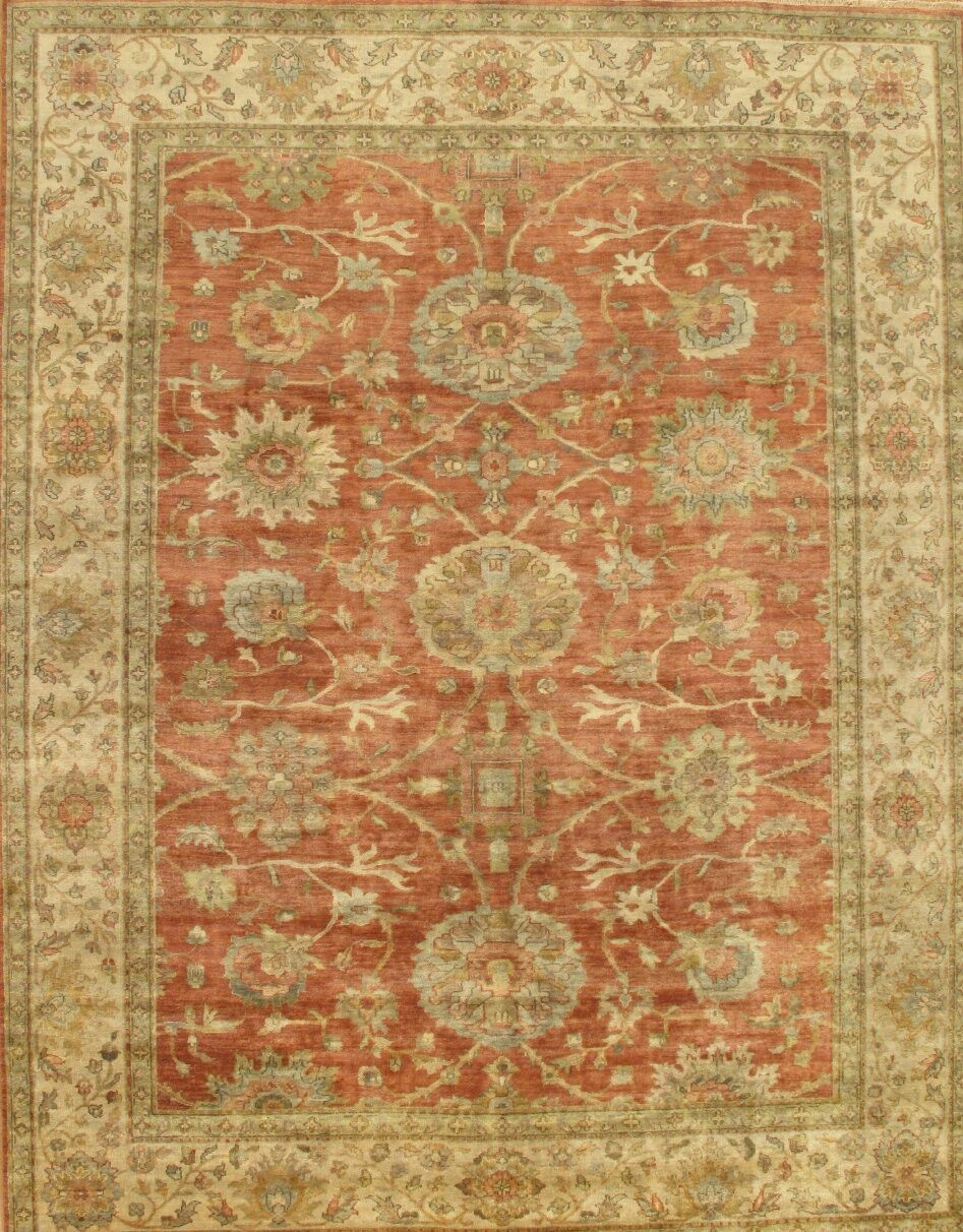Sultanabad Coral/Beige Area Rug Rug Size: Rectangle 5' x 7'