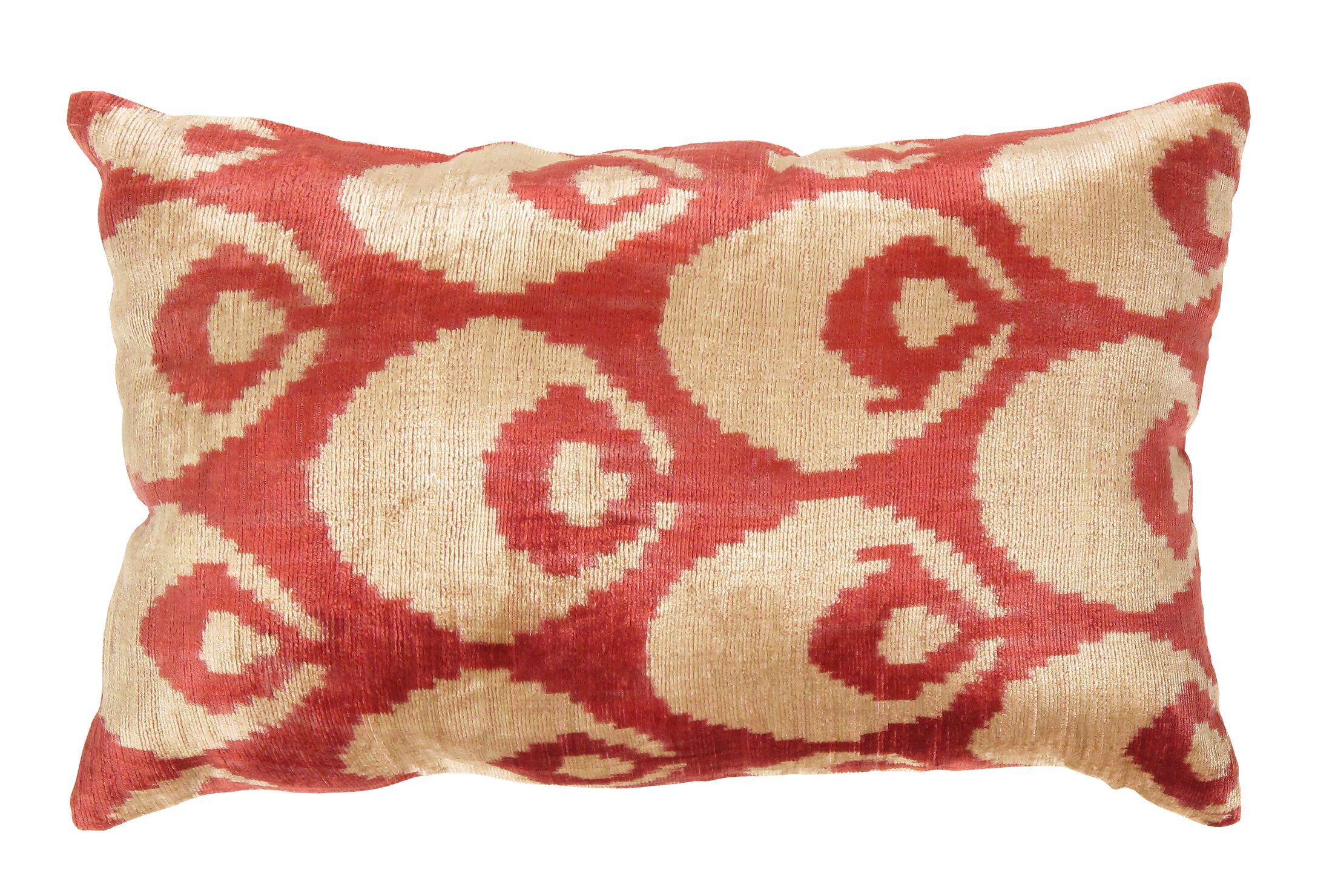 Ikat Velvet Lumber Pillow