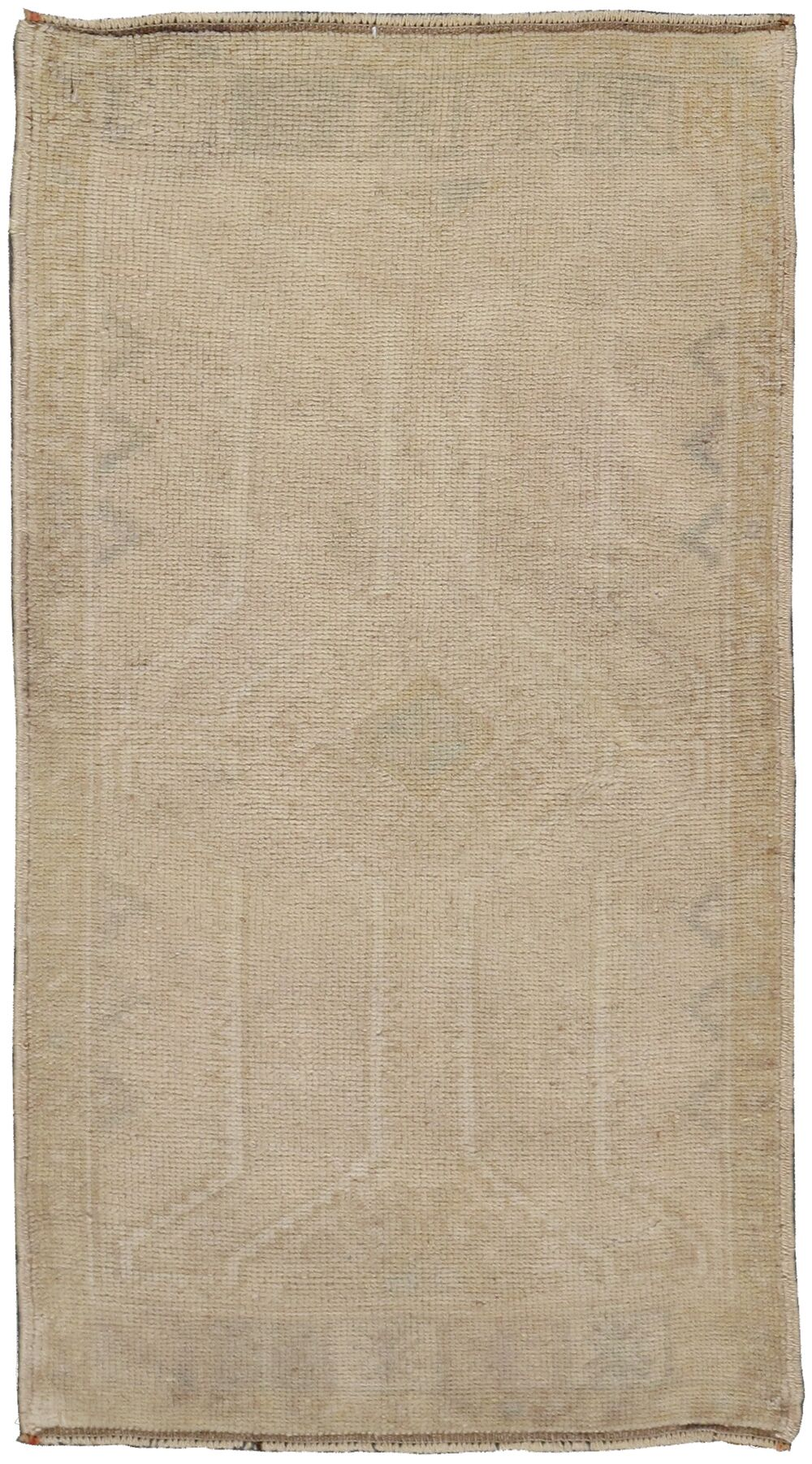 Oushak Lamb's Hand-Knotted Beige Area Rug