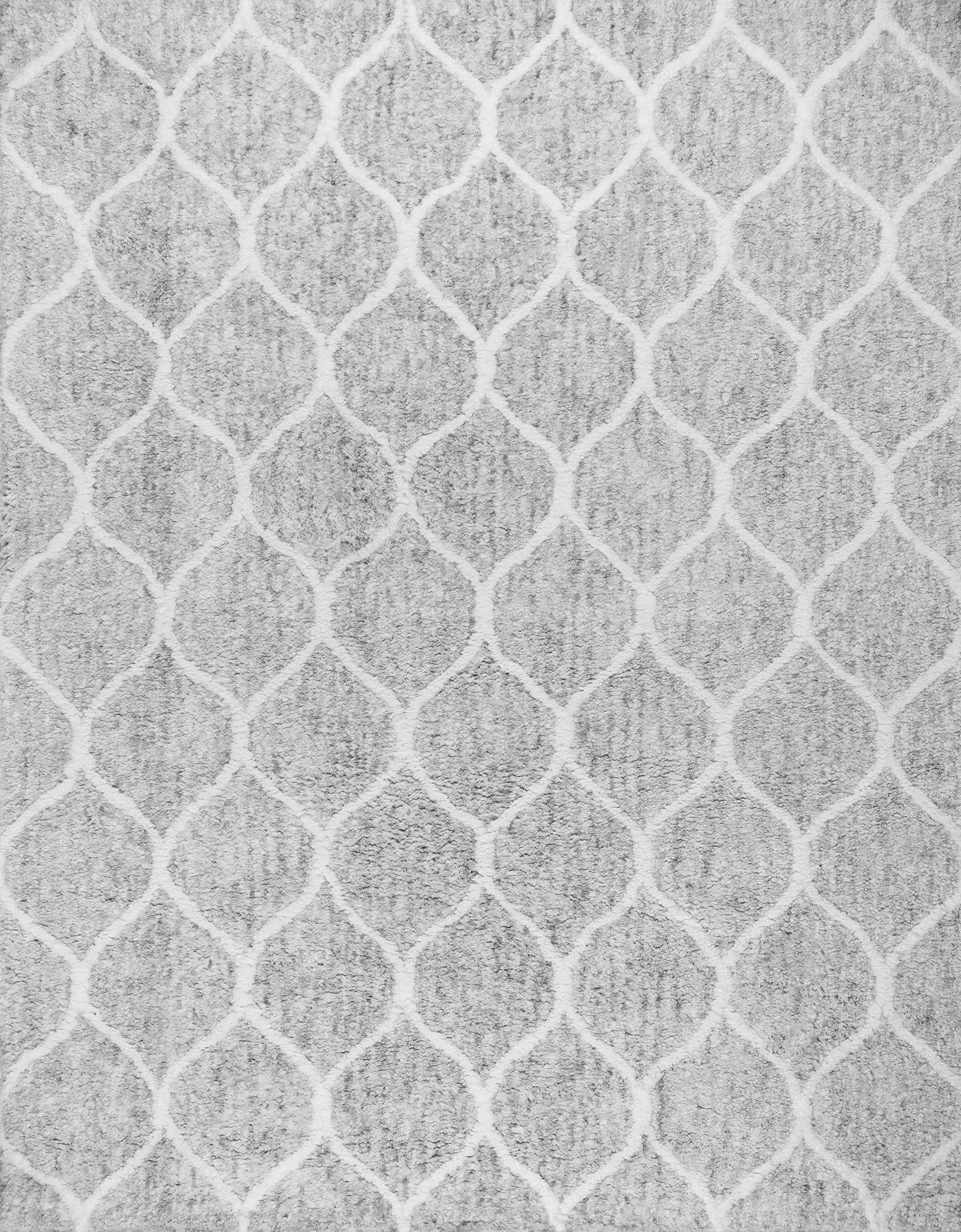 Paris Shag Moroccan Hand Woven Silver Area Rug Rug Size: Rectangle 8' x 10'