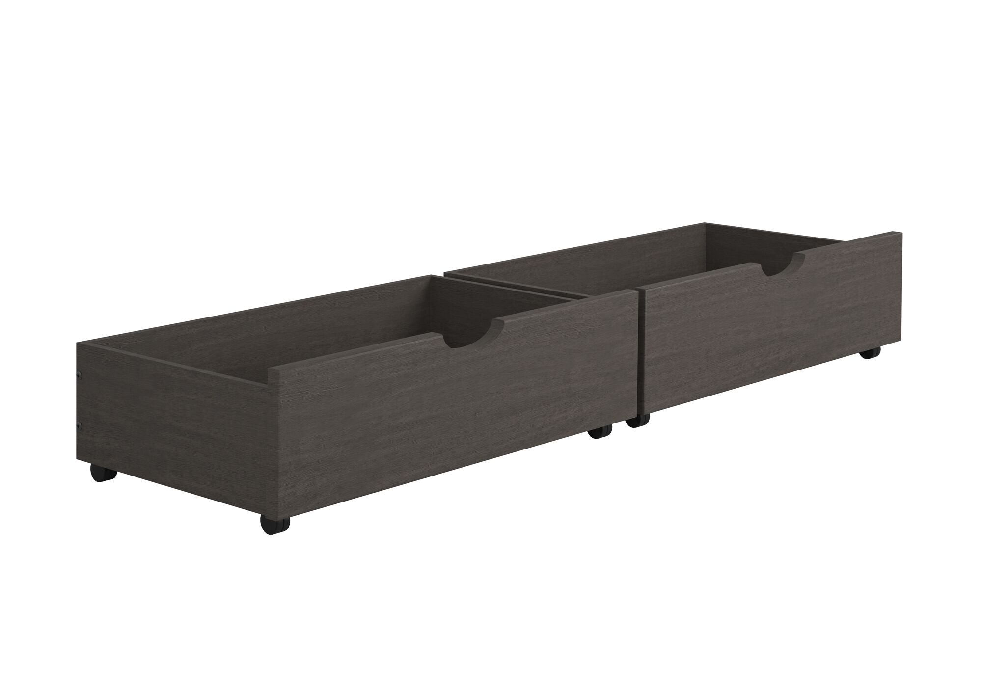 Insley Dual Underbed Storage Drawer Color: Antique Gray