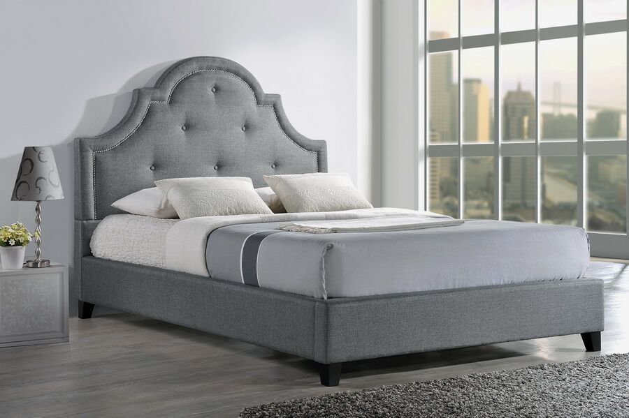 Baxton Studio Upholstered Platform Bed Size: Queen, Color: Light Beige