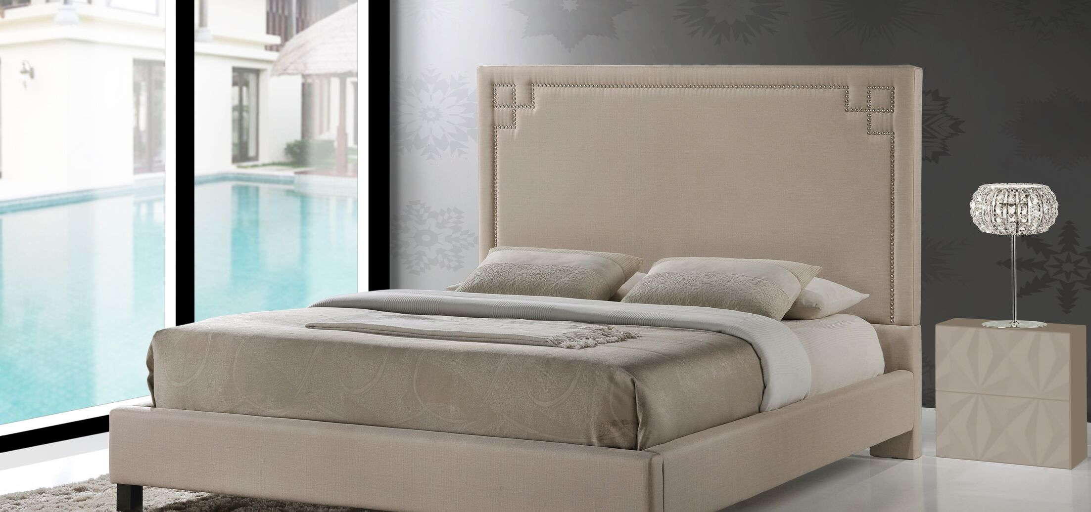 Kaplan Upholstered Panel Bed Size: Full
