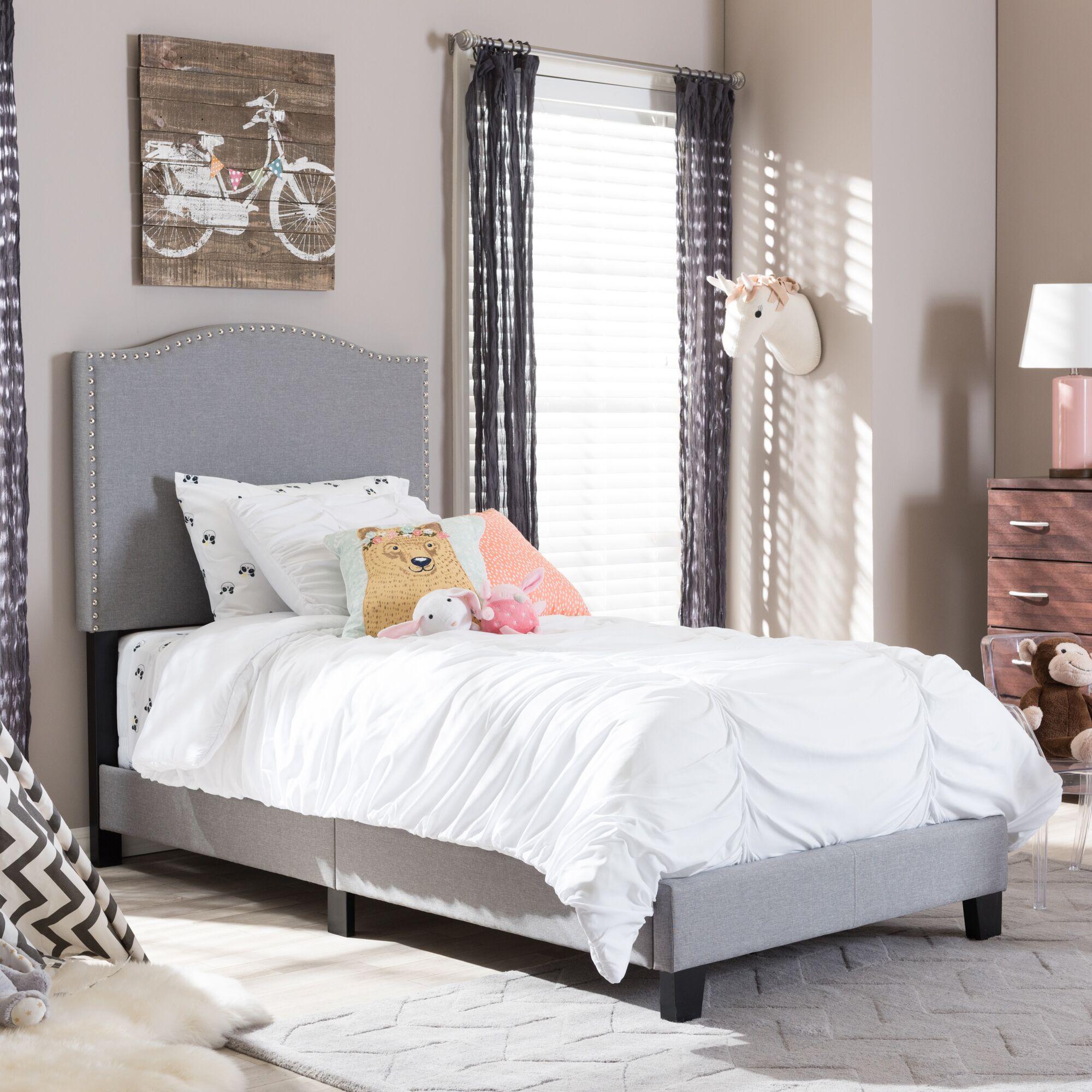 Perkinson Twin Upholstered Platform Bed