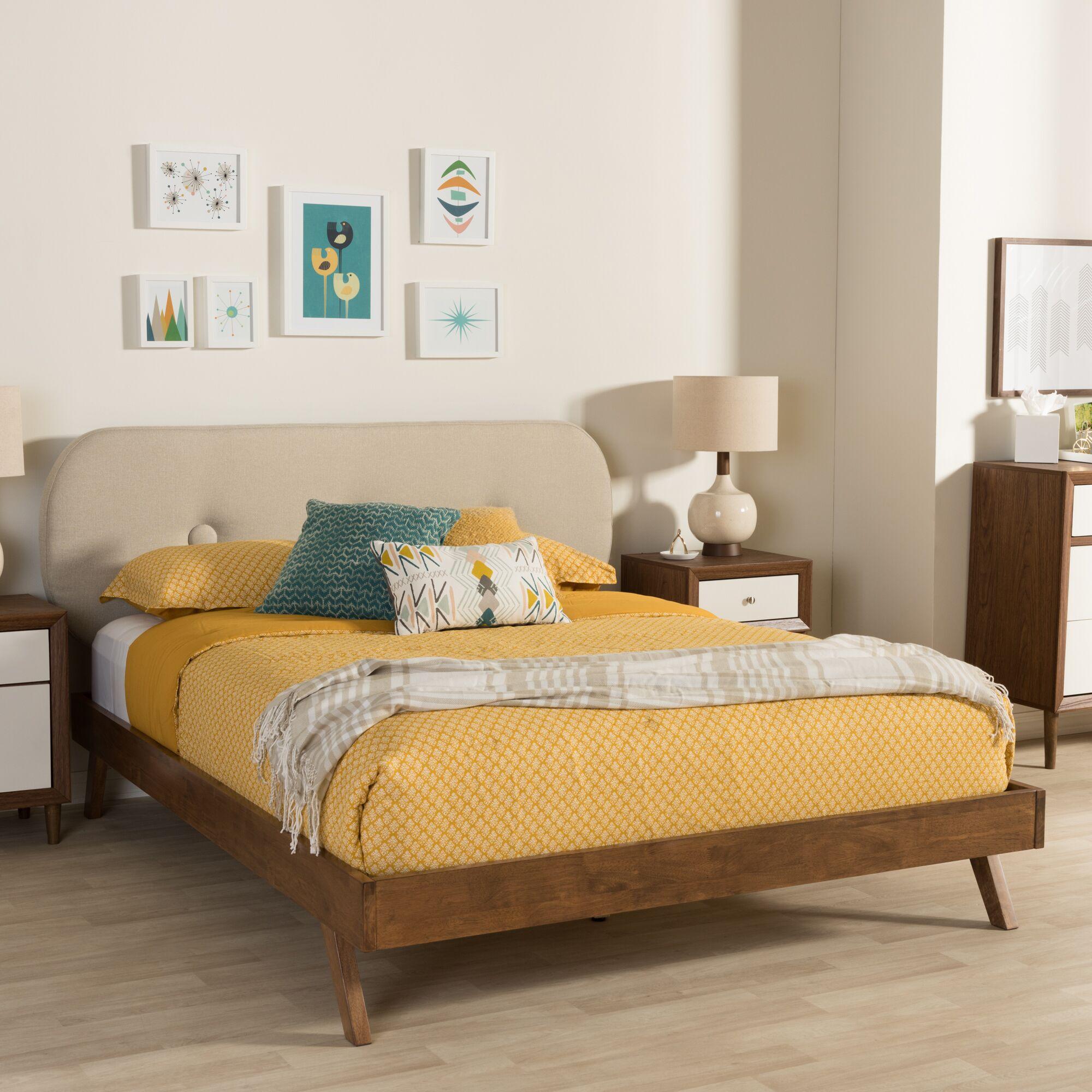 Elenora Upholstered Platform Bed Size: King