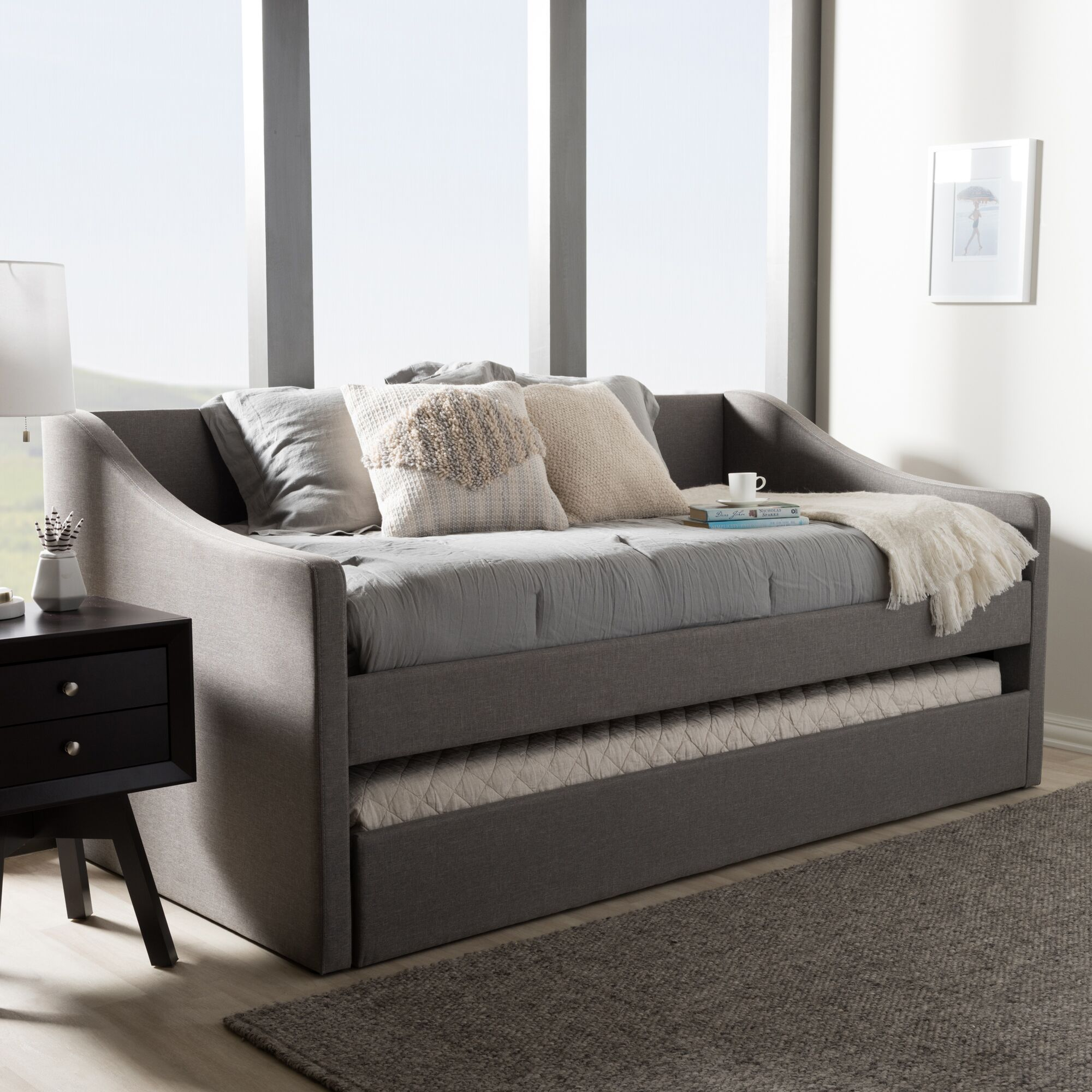 Silvana Daybed with Trundle Finish: Gray
