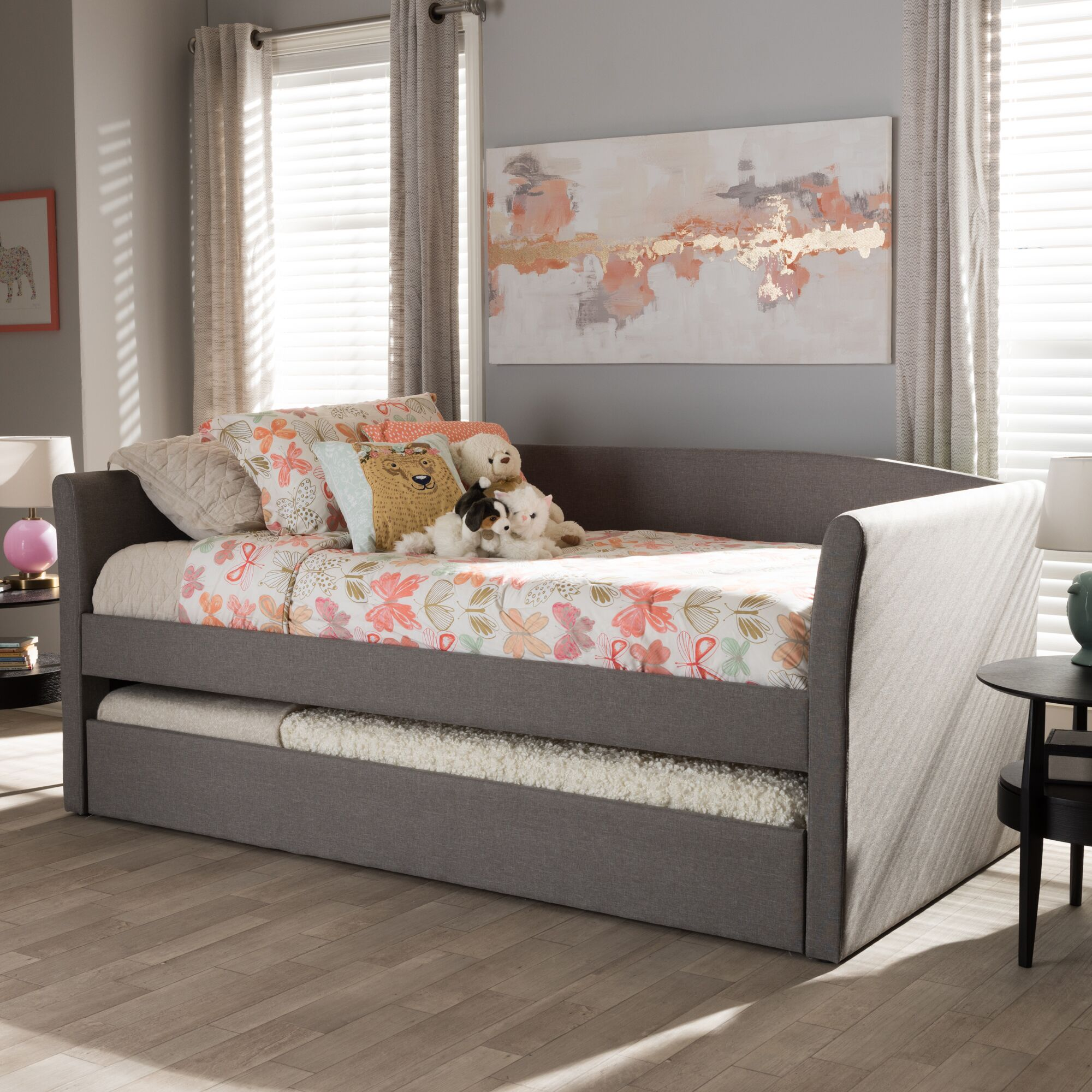 Serena Daybed with Trundle Finish: Gray