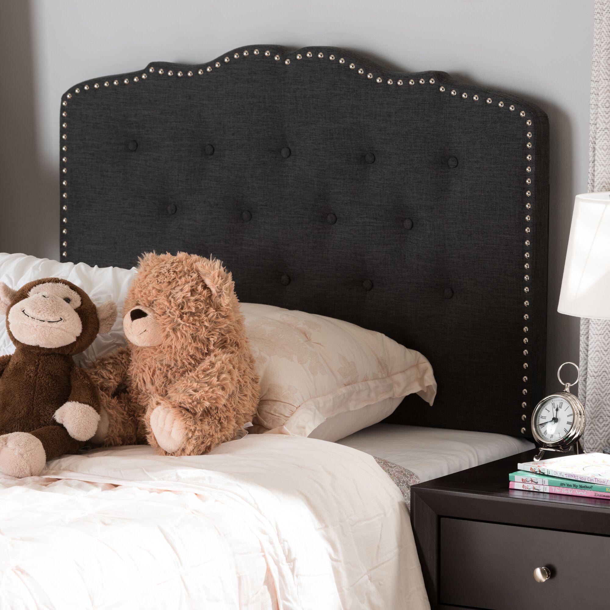 Fabiana Upholstered Panel Headboard Upholstery: Dark Gray, Size: Full