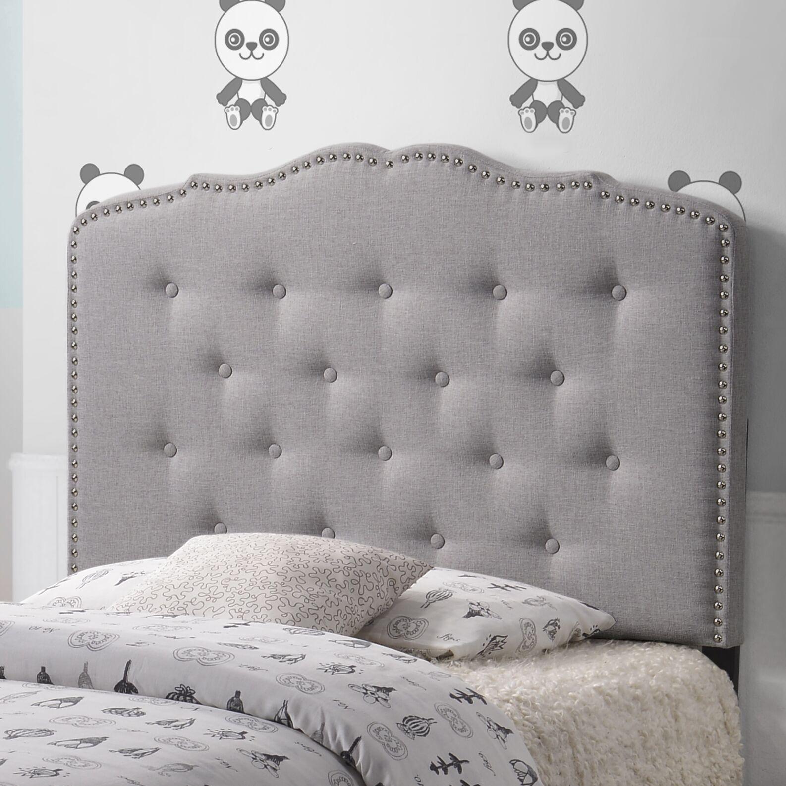 Fabiana Upholstered Panel Headboard Upholstery: Grayish Beige, Size: King