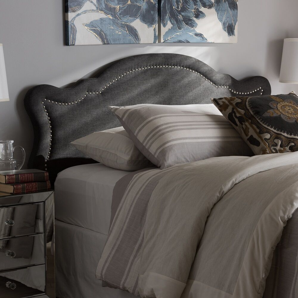 Rosana Modern and Contemporary Upholstered Panel Headboard Upholstery: Dark Gray, Size: Twin