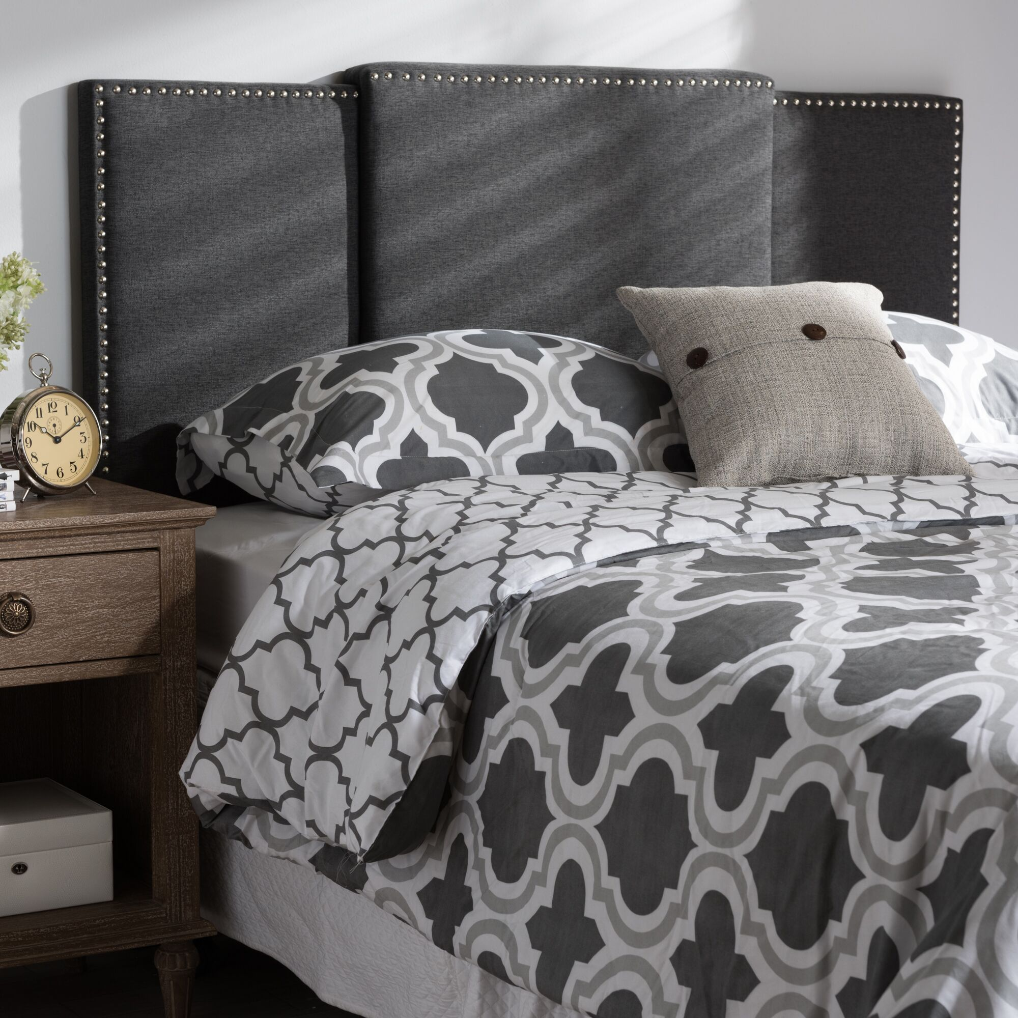 Bannerdown Upholstered Panel Headboard Upholstery: Dark Gray