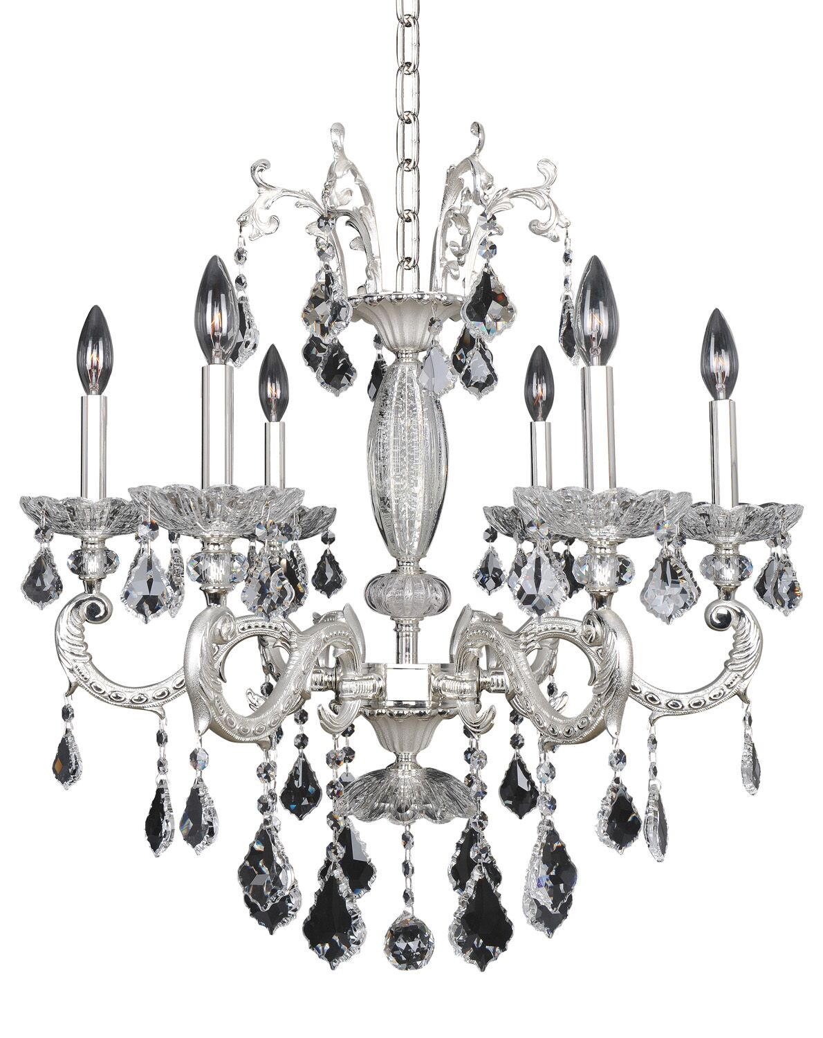 Casella 6-Light Candle Style Chandelier Crystal: Swarovski Elements Clear