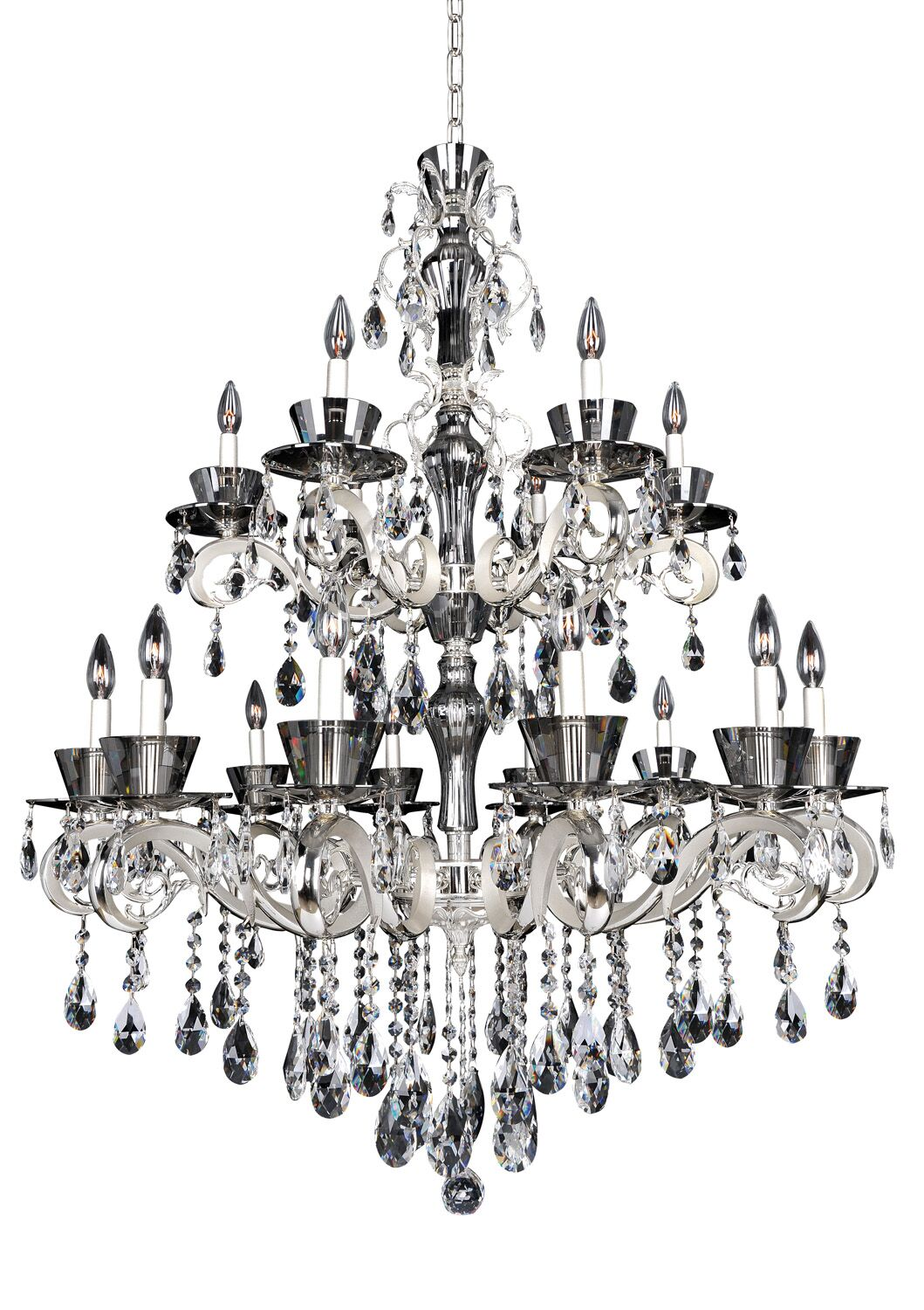 Locatelli 18-Light Candle Style Chandelier Crystal: Firenze Clear