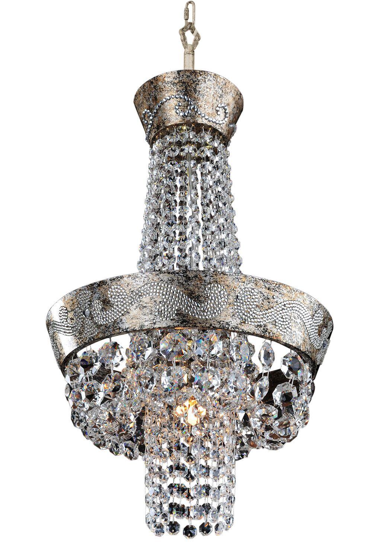Romanov 5-Light Chandelier Crystal: Firenze Clear
