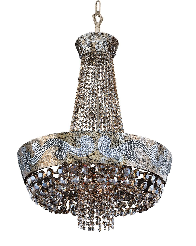 Romanov 11-Light Chandelier Crystal: Firenze Fleet Gold