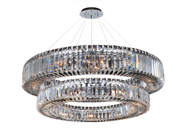 Rondelle 21-Light Crystal Chandelier