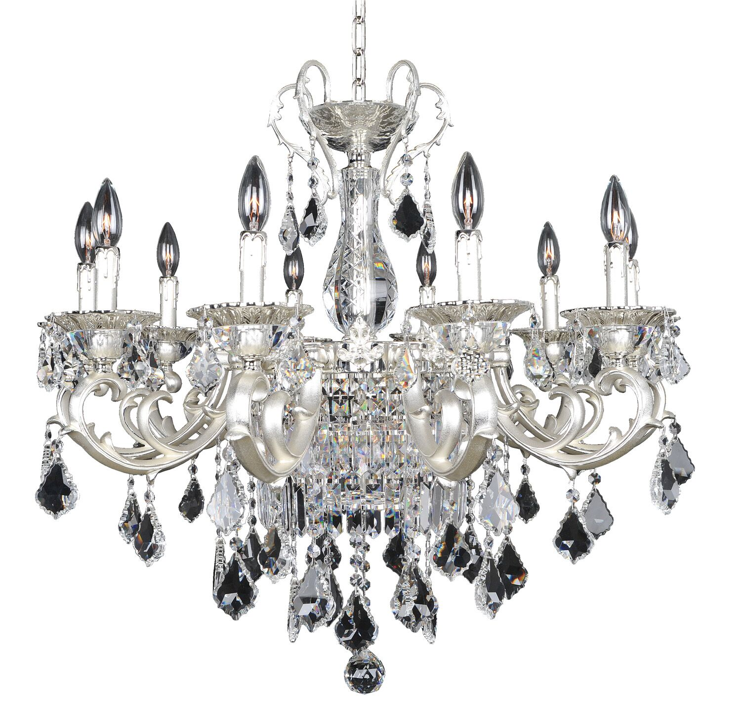 Rafael 13-Light Candle Style Chandelier Crystal: Firenze Clear