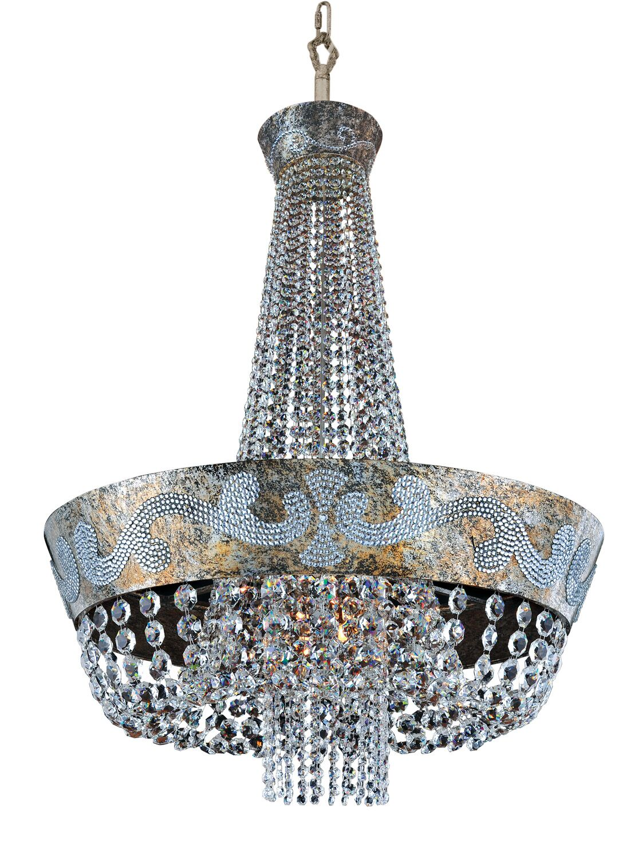 Romanov 12-Light Chandelier Crystal: Firenze Fleet Gold