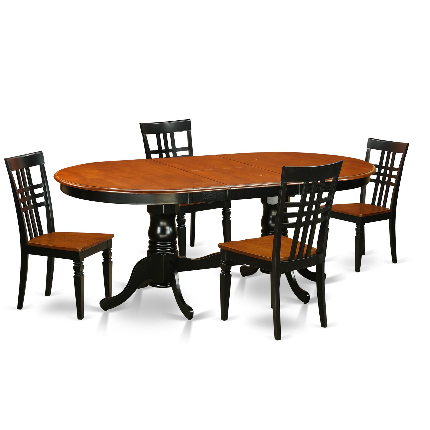 5 Piece Dining Set Chair Finish: Black