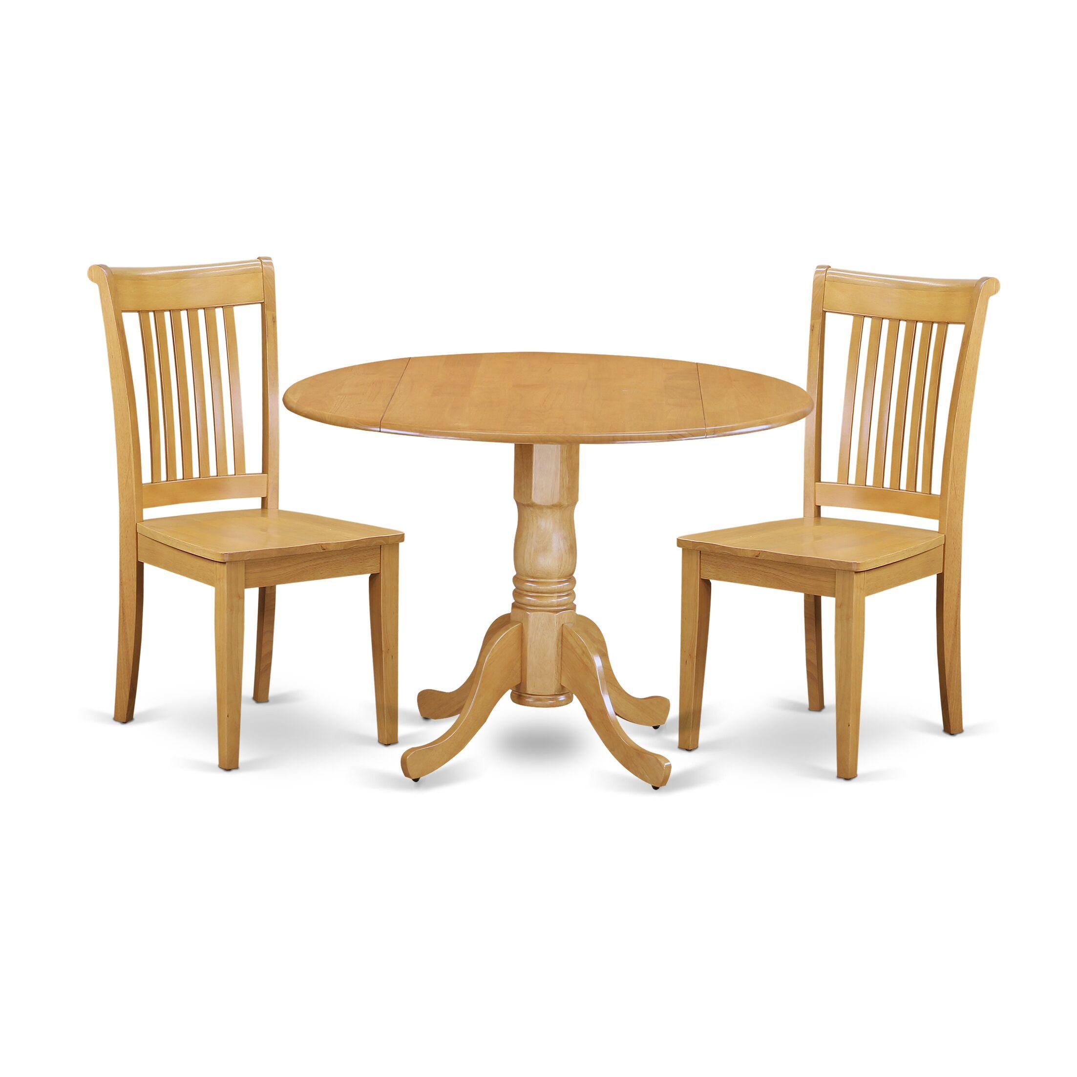 Dining Table Sets Gloucester 3 Piece Drop Leaf Breakfast Nook Solid Wood Set