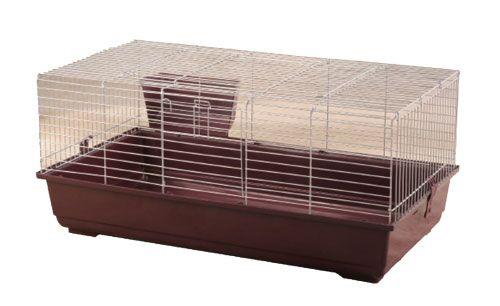 Hinkel Rabbit/Guinea Pig Cage Color: Red, Size: 17