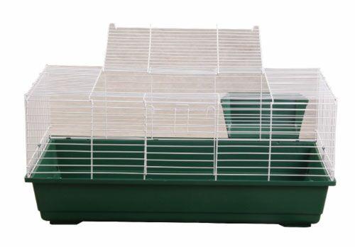 Hinkel Rabbit/Guinea Pig Cage Color: Green, Size: 17