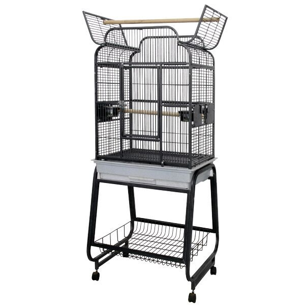 McKinley Victorian Open Play Top Bird Cage with Stand Color: Black