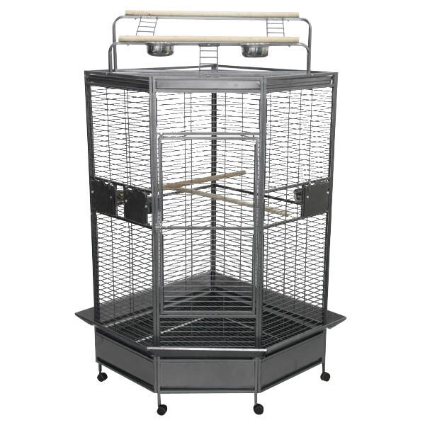 Meachum Large Bird Cage Color: Black