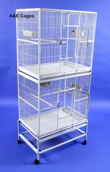 Mazzeo Double Flight Bird Cage Color: Platinum