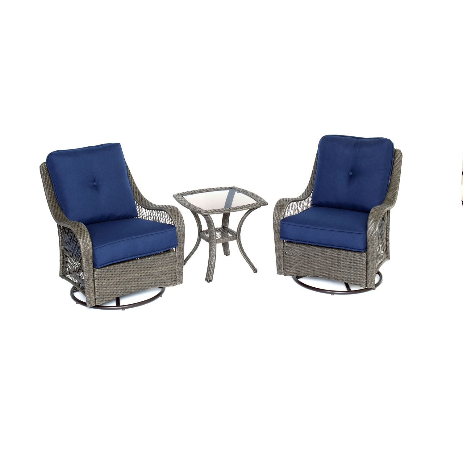 Innsbrook 3 Piece Conversation Set with Cushions Fabric: Silver Lining