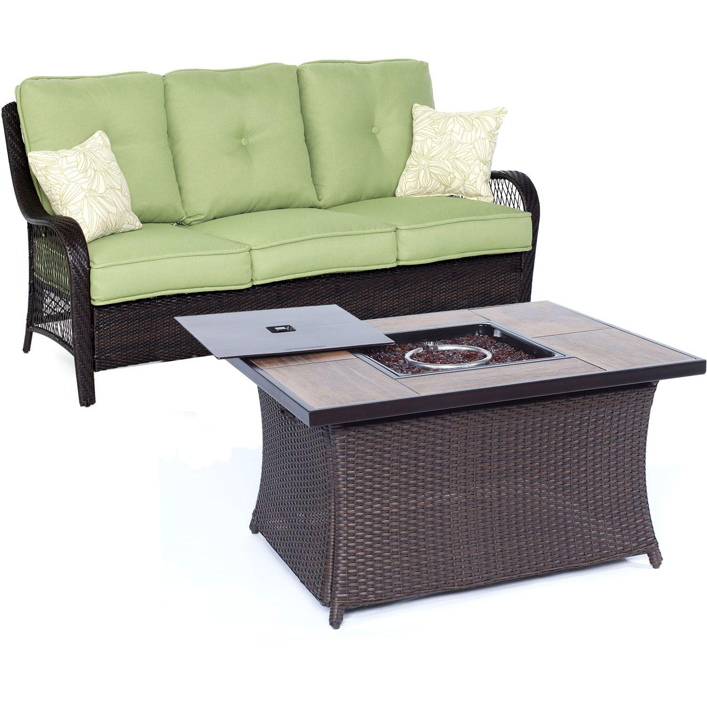 Innsbrook 2 Piece Sofa Set with Cushions Fabric: Avocado Green