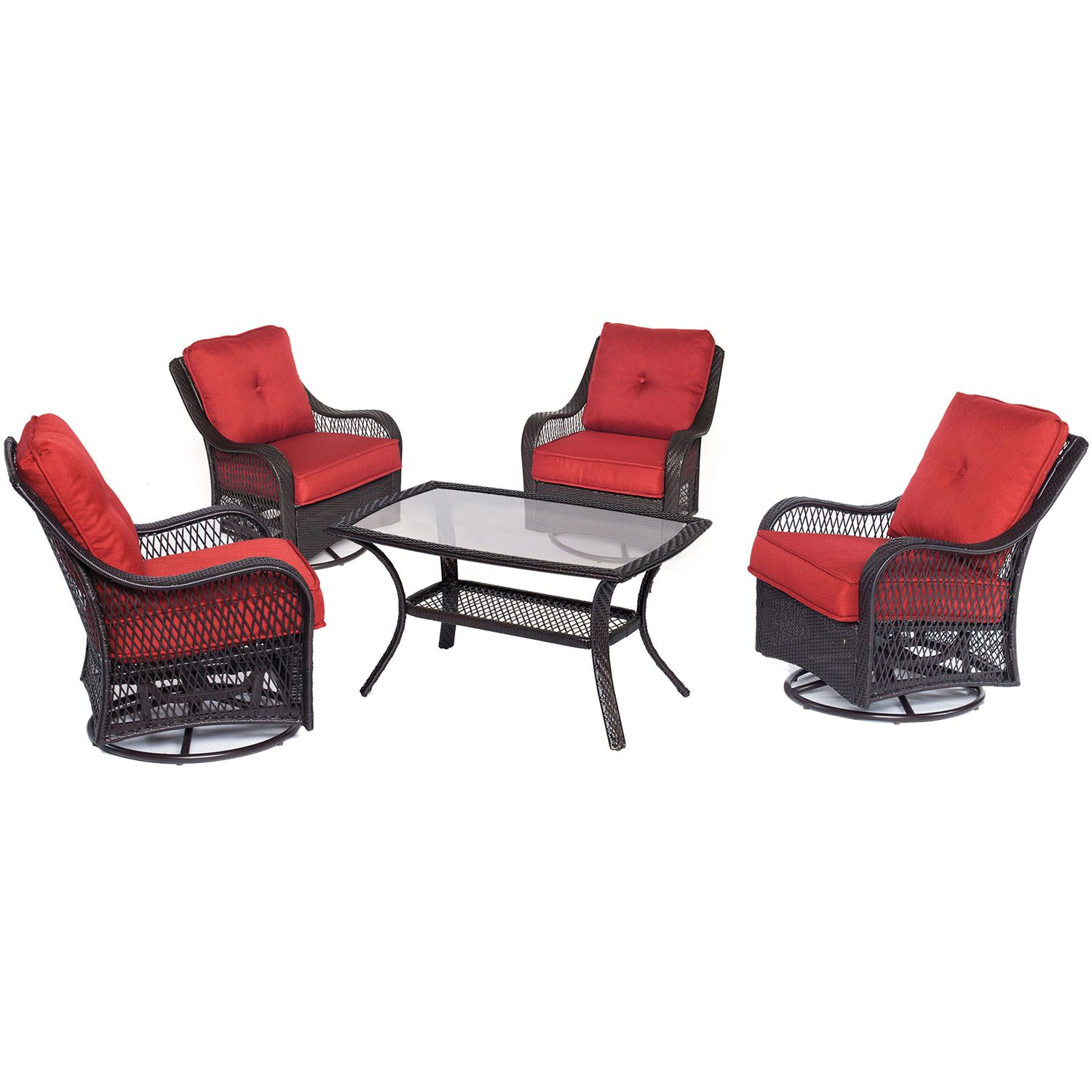 Innsbrook 5 Piece Conversation Seat with Cushions Fabric: Autumn Berry