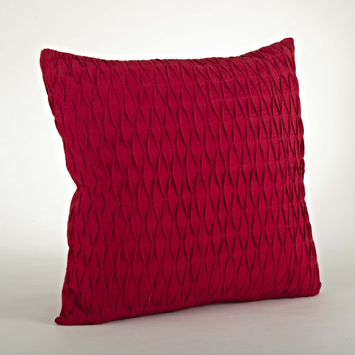 Malawi Diamond Pleated Cotton Throw Pillow