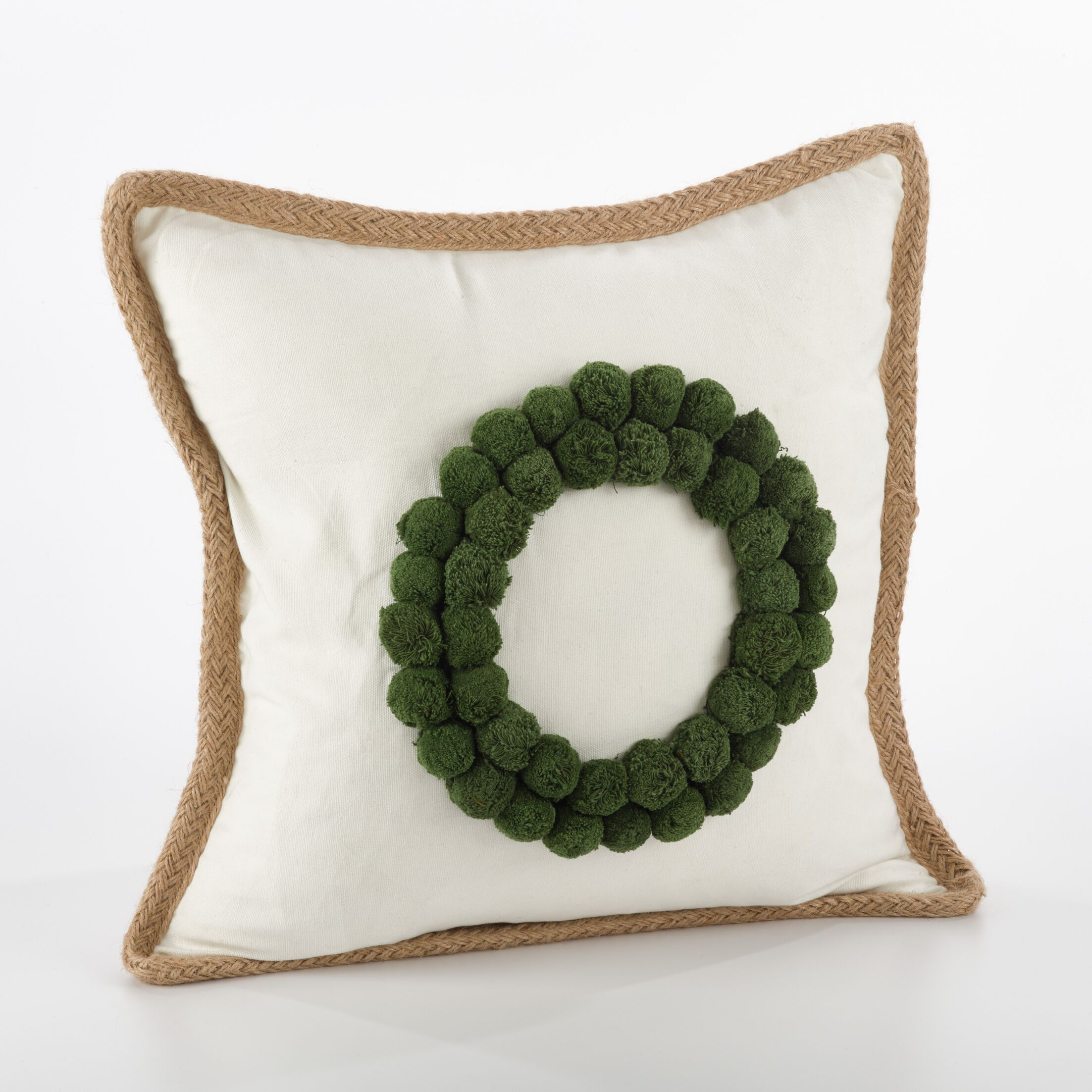 Ricamato Wreath Cotton Throw Pillow