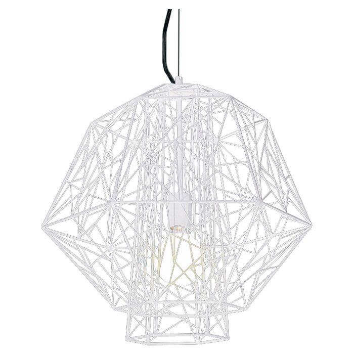 Zeus 1-Light Geometric Pendant Color: White
