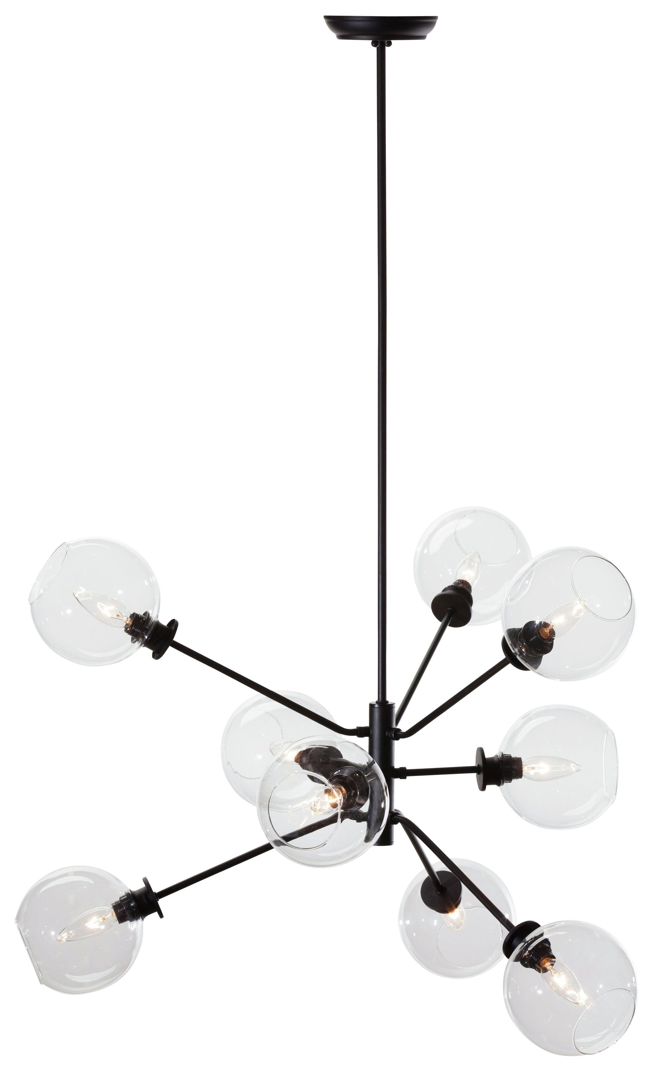 Atom 9-Light Sputnik Chandelier Shade Color: Clear
