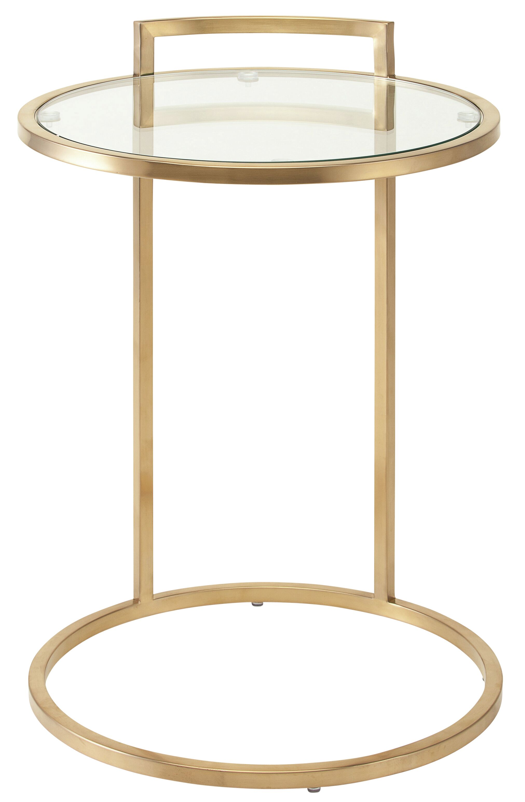 Lily End Table Color: Gold